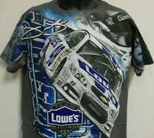 Jimmie Johnson #48 Lowe's Racing Total Print Chase T- Shirt - Medium - Free Ship