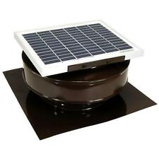 Brown Solar Powered Exhaust Fan Roof Vent Attic Ventilator Mount 365 CFM Panel