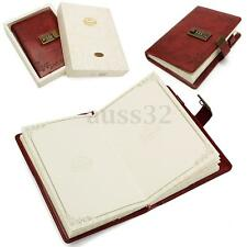 120 Sheets B6 Red Rose Leather Diary Journal Note Book With Combination Lock