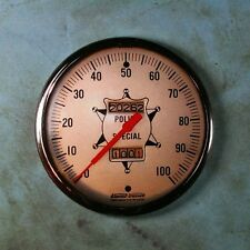 "Vintage Police Special  Speedometer Photo Gauge Fridge Magnet 2 1/4""  S+W 50's"