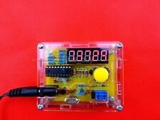 DIY Kits 1Hz-50MHz Crystal Oscillator tester Frequency Counter Meter with case