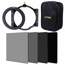 100*150mm Complete ND2+4+8+16Square filter kit 72ring+holder+Bag For Cokin Z-Pro