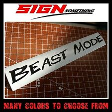 Beast Mode sticker / decal / vinyl *Multiple colors & Sizes*
