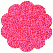 Nonpareils Non-Pareils Sprinkles Cookie Cake Cupcake Decorating - PINK 4 oz.