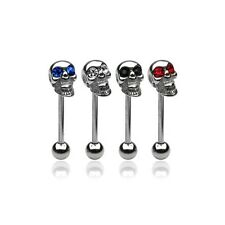 4er SET  TOTENKOPF  Zungenpiercing Piercing Zunge ~HOT~