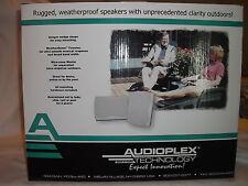 AUDIOPLEX TECHNOLOGY OA-602 BLACK OUTDOOR WEATHERPROOF 100 WATT SPEAKERS