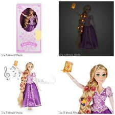 "Disney Store Rapunzel Deluxe Feature Singing Doll 16"" Lights Up Tangled NIB"