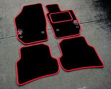Car Mats en Negro/Rojo Recortar-Seat Ibiza 6J (2008-2017) + + Pad alfombra FR logotipos