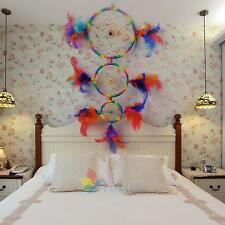 """Dream Catcher Rainbow Feather Hanging Wind Chime Wall Door Decor Ornament 23.6"""""""