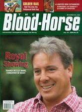 2009 The Blood-Horse Magazine #29: Wesley Ward/Rail Trip Wins Hollywood Gold Cup