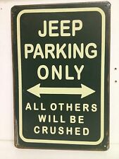 Jeep Parking Only Big Vintage Retro Metal Sign Garage Bar Studio Decor (30x40cm)