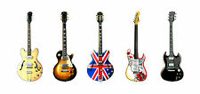 Famous Rock Guitars, Pack of 6 Greeting Cards, DL size