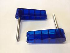 Bally 1970s 1980s Pinball Machine Blue Translucent Flippers Bats Set of 2 Kiss
