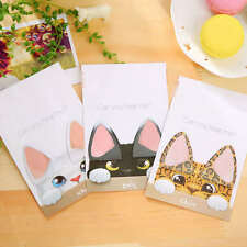 2X Cute Cat Ear Memo Pad Post It Sticky Notes Stickers Stationery Office Supply