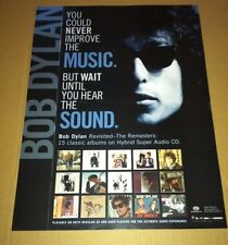 BOB DYLAN 2003 Retail PROMO POSTER For Catalogue SACD Remaster  CD USA 24x18