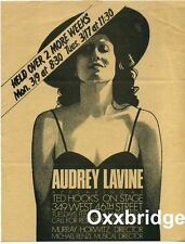 AUDREY LAVINE & MICHAEL RENZI Ted Hooks On Stage BROADWAY HANDBILL 1981 Original