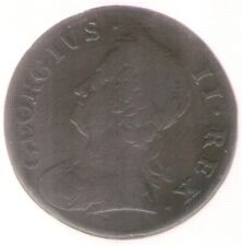 Great Britain Uk Coin 1/2 Penny 1752 Km 579.2 Very Fine
