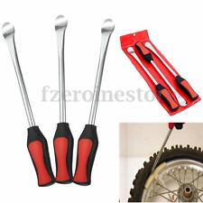 3Pcs Motorcycle Bike Tire Tyre Lever Iron Spoon Changing Tool Kit With Case