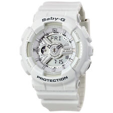 Casio Baby-G Analog-Digital Dial White Resin Strap Ladies Watch BA110-7A3CR
