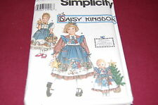 "Simplicity Pattern # 8236 - Daisy Girl's & 18"" Doll's Dress - Size 3-6 - NEW"