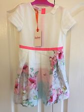 Ted Baker Girls Rose Floral Pleated Dress. 5-6 Years. BNWT. Designer