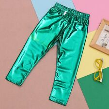 Hot Fashion Infant Baby Kids Girls Solid Metallic Leggings Tight Pants Trousers