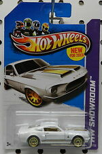 FORD MUSTANG 13 245 67 FASTBACK PONY CAR WHITE SHELBY GT GT500 500 HW HOT WHEELS
