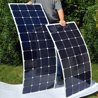 NEW 100W 12v Energy+ Semi Flexible Mono Solar Panel - 100 watt - TUV ISO UK