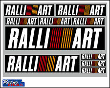 RALLIART decal set 10 quality printed and laminated stickers free delivery