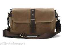 "Ona ""The Bowery"" Ranger Tan Camera Bag -Handcrafted Premium WaxWear Bag"