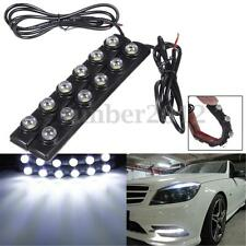 2X White 5050 SMD 6 LED Soft Eagle Eye Daytime Running Strip Light Lamp DRL 12V