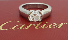 Cartier 1.13 ct Platinum Round Diamond Solitaire Engagement Ring Ideal Triple X