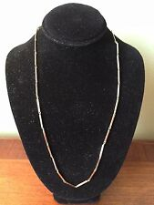 "Vintage 14k Yellow Gold Bar & Link Necklace Chain 15"" Long Balestra Italy 585"