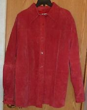NYGARD COLLECTION -  RED GENUINE SUEDE JACKET – MISSES 14