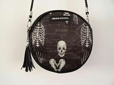 Anatomical Skeleton Black Round Handbag - Bag Clutch Ribs Skull Medical Doctor