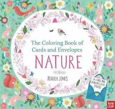 The Coloring Book of Cards and Envelopes: Nature by Nosy Crow (2016, Paperback)