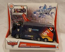 Disney Pixar Cars Stunt Racers JORG Transforming Transporter Truck NEW 2012