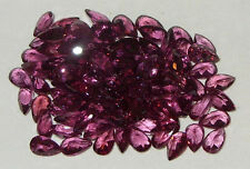 5x3mm Beautiful Calibrated Magenta Rhodolite Pear Cut