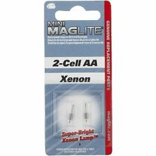 MagLite LM2A001 Mini Mag AA Mag Flashlight 2 Pack Replacement Bulbs / Lamps