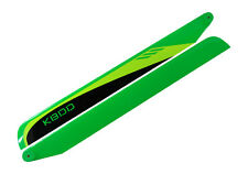 KBDD 620mm FBL Black / Lime / Yellow Carbon Fiber Main Rotor Blades - Trex 600