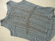 New Laura Ashley Top with Beaded Front/Christmas/Party Size 12
