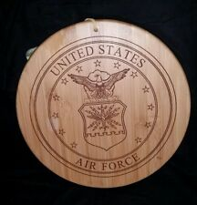 TOTALLY BAMBOO UNITED STATES AIR FORCE BAMBOO LASER ETCHED SERVING BOARD - 12""