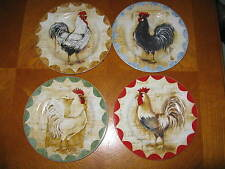 """Set of 4 """"Colonial Rooster"""" by Sakura Salad/Dessert Plates"""