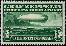 US Postage AIR MAIL Stamp PHOTO MAGNET 1930 issue 65 cents Graf Zeppelin