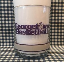 Vintage Georgetown Hoyas Basketball 4 Inch Glass 10 Years of the Big East VTG