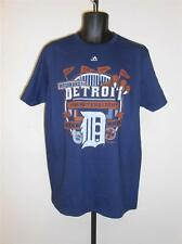 NEW DETROIT TIGERS MENS L LARGE by MAJESTIC TRIPLE PEAK T-SHIRT 62LN