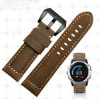Free shipping 2016 NEW Garmin Fenix 3 / HR Crazy Horse Leather Watch Band Strap