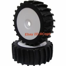 RC 1:8 Baja Buggy Wheel & Snow / Sand Master Paddles Tires Set (1 Pair) for HPI