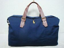 POLO Ralph Lauren -Overnight Duffle Carry On Travel Gym Bag -Navy Brown Yellow