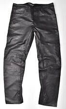 G-Star Raw Lederhose-Afrojack a Crotch Leather tapered w34 l34 nuevo!!!